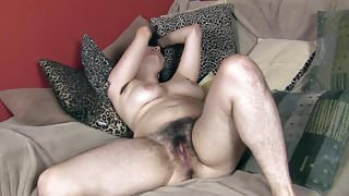 Hairy Girl Takes Her Pants Off