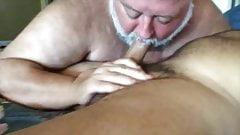Chub daddy sucks cock 3