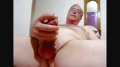 Weiner wanking and cum eating