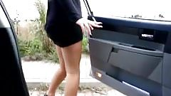 Pee. a big one outside the car