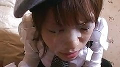 Japanese teen Mei sucks for a really great facial