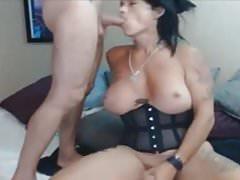 Big boobs tranny and boyfriend