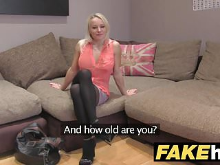 Preview 1 of Fake Agent UK Cute horny MILF with shaven pussy fucking