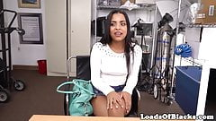 Latina casting babe doggystyled at audition