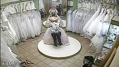 spy camera in the salon of wedding dresses 9 (sorry no sound