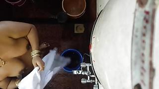 Desi Indian mom hidden cam bath 3
