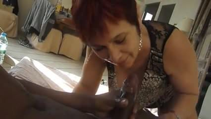 Dirty milf eat cock and cum