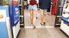 Tiny jean shorts big amazon legs