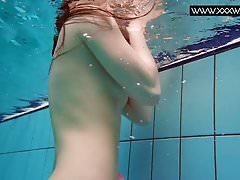Liza Bubarek enjoys swimming