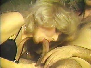2 guys feed their cocks to mature blonde in 3-way