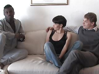 Download video bokep Pia Sofie's first black cock while her cuckold is watching Mp4 terbaru