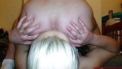 Amateur russian rimjob with blonde