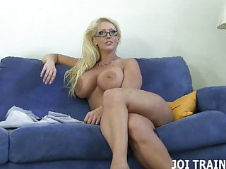 Work your big cock while I encourage you JOI