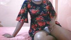 Teen Sri Lankan Crossdresser Anushi CD Self Cam Hot 03
