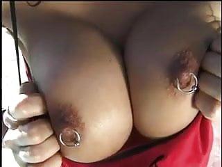 Busty Pierced Asian MILF Sex Outside