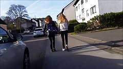 Perfect teen asses in public # 3