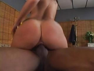 Beautiful latina with a gorgeous ass is fucked by a black cock