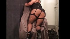 Slutty Rachelle Ass Up in Sexy Dress and Thong