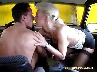 German Milf Rough Big Cock Backseat Banged