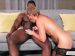 Interracial BBC Fucks Hot Mature