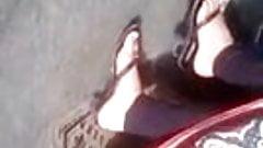 salwar kameez high heels candid