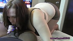 Morning Wood Pantyhose Blowjob