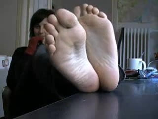 Girl showing her feet
