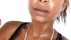 Christina Milian sexy and sweaty