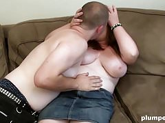 Big fat nerdy blonde girl is happy to be fucked hardcore