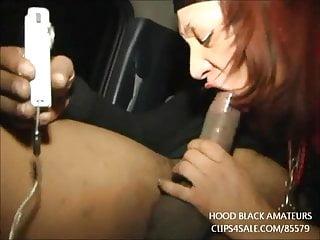 HOOD PORN: BLACK SLUT SUCK DICK IN THE BACK OF A CAR