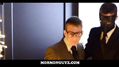 Young Nerdy Mormon Twink Groupsex With Masked Men Of Church