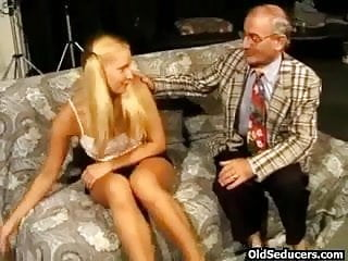Teeny fucked by horny grandpa