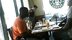 Hottie in Starbucks, Nice Ass, Black Panties