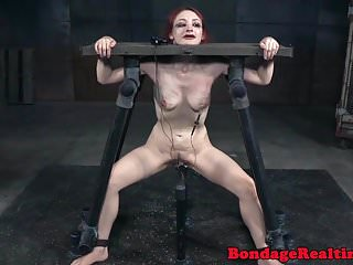 Preview 4 of Redhead bdsm sub canned on scarred ass