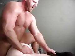 Hot Beefy bald dad fucks young girl