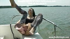 HOTKINKYJO FUCK HER ASS WITH HUGE COCK ON THE BOAT