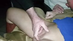 My Hot MILF Trina playing with strangers at Adult Theater
