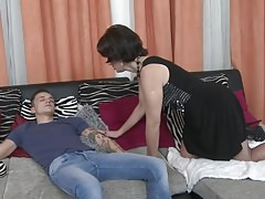 Mom wake up and seduce lucky son