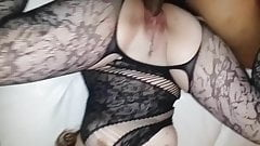 Wife in bodystocking takes bbc 2