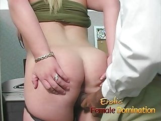 Slutty blonde takes a cumshot at her first day at work