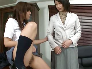 Asian Teacher Resistance is Futile Against Schoolgirl Pussy