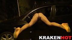Krakenhot - Hot Redhead Milf provocating in the street