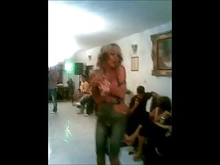 Persian Blonde Dancing Topless In Party