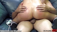 Cute blonde stretches her long legs for Porno Dan!