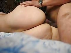 PAWG side fuck and cum on ass