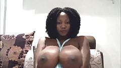 Large black juggs