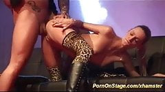 incredible porn on public sex show stage