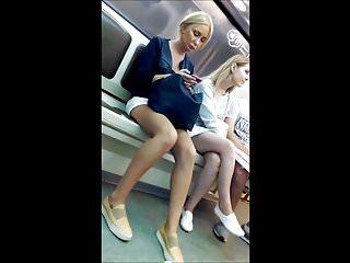 Candid Blonde Sexy Legs