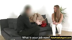 European amateur creampied on casting couch