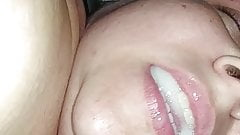 White MILF Milks Cum Load Out Of BBC and Swallows Cum's Thumb